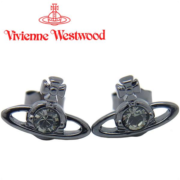 ヴィヴィアンウエストウッド ピアス Vivienne Westwood ヴィヴィアン レディース メンズ ナノソリティアピアス ガンメタル 1112/12/23 【お取り寄せ】【送料無料】