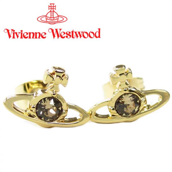ヴィヴィアンウエストウッド ピアス Vivienne Westwood ヴィヴィアン レディース ナノソリティアピアス ゴールド(旧タイプ) 【お取り寄せ】【送料無料】