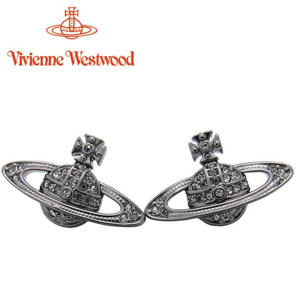 ヴィヴィアンウエストウッド ピアス Vivienne Westwood ヴィヴィアン ミニバスレリーフ ピアス ガンメタル 724535B/4 【あす楽】【送料無料】