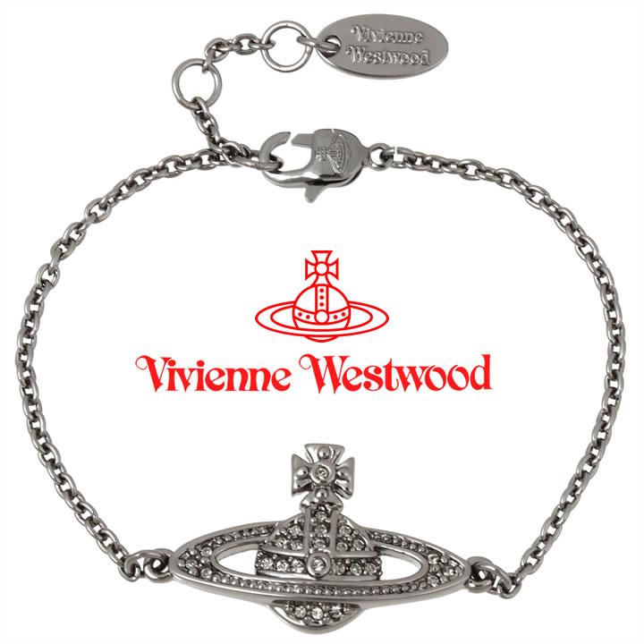 ヴィヴィアンウエストウッド ブレスレット Vivienne Westwood ヴィヴィアン ミニバスレリーフブレスレット ガンメタル 741456B/4 【あす楽】【送料無料】