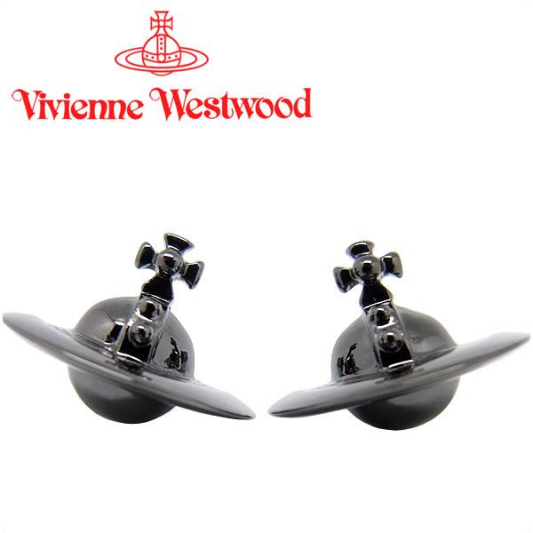 ヴィヴィアンウエストウッド ピアス Vivienne Westwood ヴィヴィアン ソリッドオーブピアス ガンメタル 724499B/4 【お取り寄せ】【送料無料】