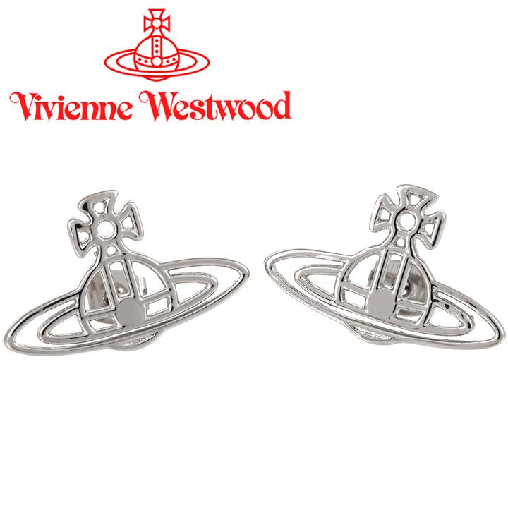 ヴィヴィアンウエストウッド ピアス Vivienne Westwood ヴィヴィアン シンラインフラットオーブピアス シルバー BE157/2 【あす楽】【送料無料】