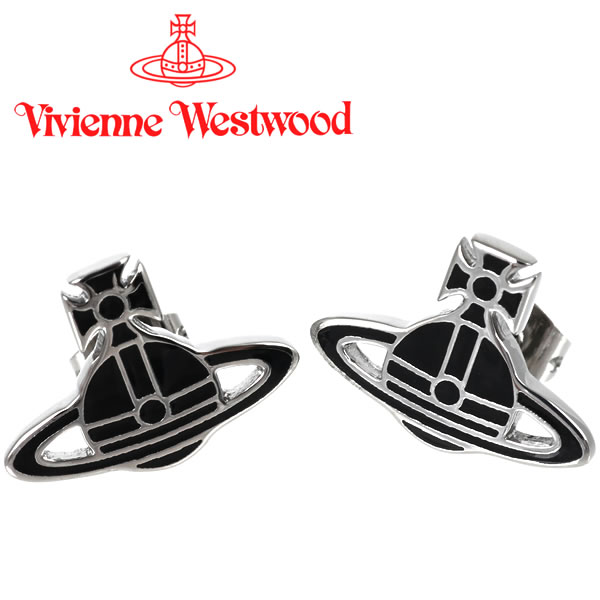 ヴィヴィアンウエストウッド ピアス Vivienne Westwood ヴィヴィアン ケイトピアス ブラック×シルバー BE169/35 【お取り寄せ】【送料無料】