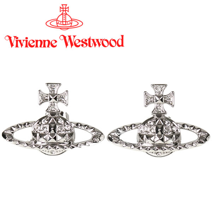 ヴィヴィアンウエストウッド ピアス Vivienne Westwood ヴィヴィアン メイフェアバスレリーフピアス シルバー 62010029-W110(MT12630/2) 【お取り寄せ】【送料無料】