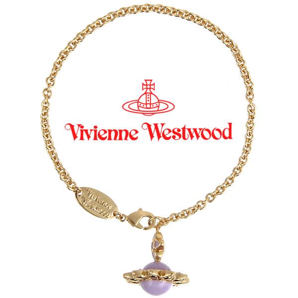 ヴィヴィアンウエストウッド ブレスレット Vivienne Westwood ヴィヴィアン クリスタルオーブブレスレット バイオレット