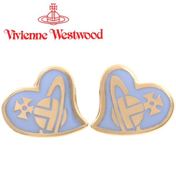 ヴィヴィアンウエストウッド ピアス Vivienne Westwood ヴィヴィアン アンフィスタッドピアス ゴールド×パウダーブルー 【お取り寄せ】【送料無料】