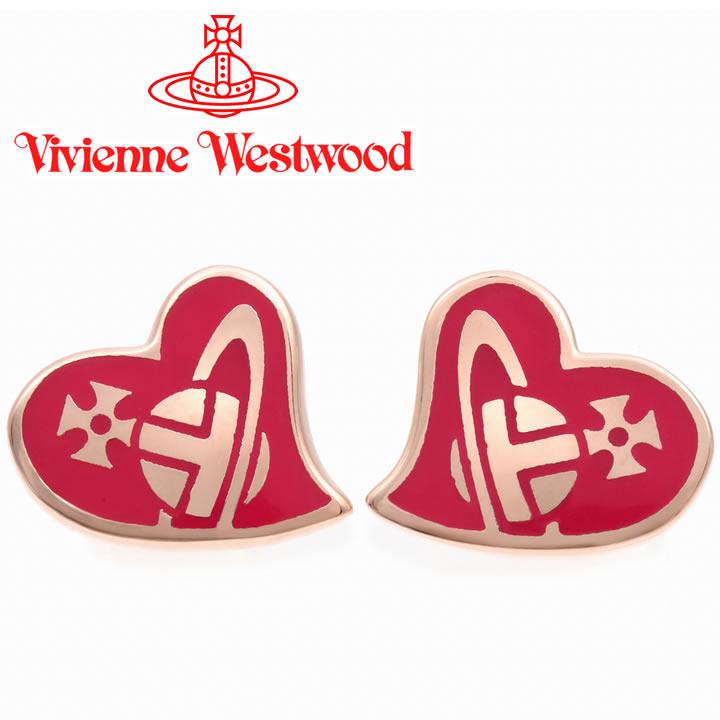 ヴィヴィアンウエストウッド ピアス Vivienne Westwood ヴィヴィアン アンフィスタッドピアス ピンクゴールド×フーシャ