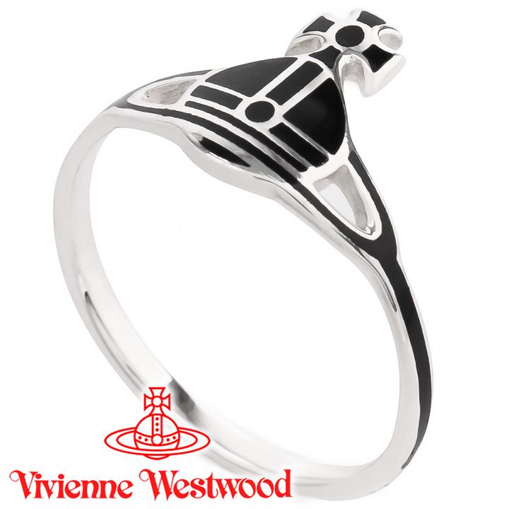 ヴィヴィアンウエストウッド リング 指輪 Vivienne Westwood ヴィヴィアン ケイトリング ブラック×シルバー SR405/1 【あす楽】【送料無料】