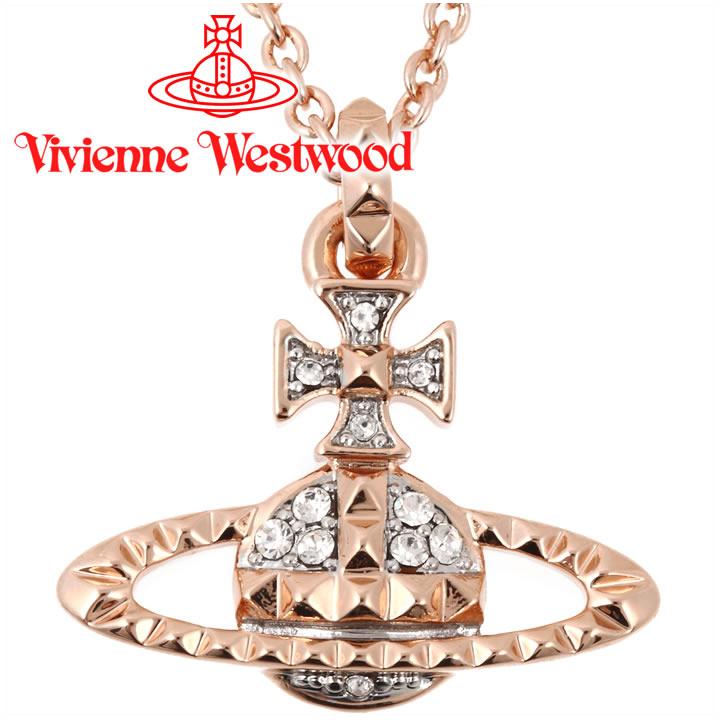 ヴィヴィアンウエストウッド ネックレス Vivienne Westwood ヴィヴィアン メイフェアバスレリーフペンダント ピンクゴールド MT12628/4 【お取り寄せ】【送料無料】