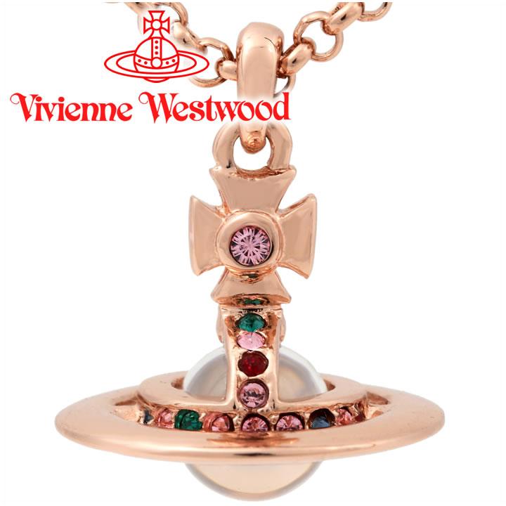 ヴィヴィアンウエストウッド ネックレス Vivienne Westwood ヴィヴィアン プチオーブペンダント ピンクゴールド 752116B/3 【お取り寄せ】【送料無料】