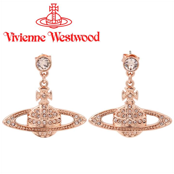 ヴィヴィアンウエストウッド ピアス Vivienne Westwood ヴィヴィアン ミニバスレリーフドロップピアス ピンクゴールド 724536B/3 【あす楽】【送料無料】