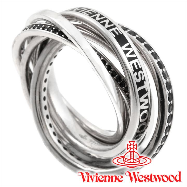 ヴィヴィアンウエストウッド リング 指輪 メンズ レディース Vivienne Westwood ヴィヴィアン ダスティンリング ブラック×シルバー 【あす楽】【送料無料】