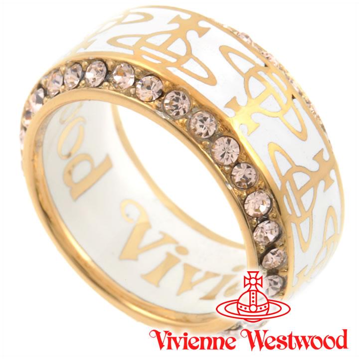 ヴィヴィアンウエストウッド リング 指輪 メンズ レディース Vivienne Westwood ヴィヴィアン タリクリング ホワイト×ゴールド 【あす楽】【送料無料】