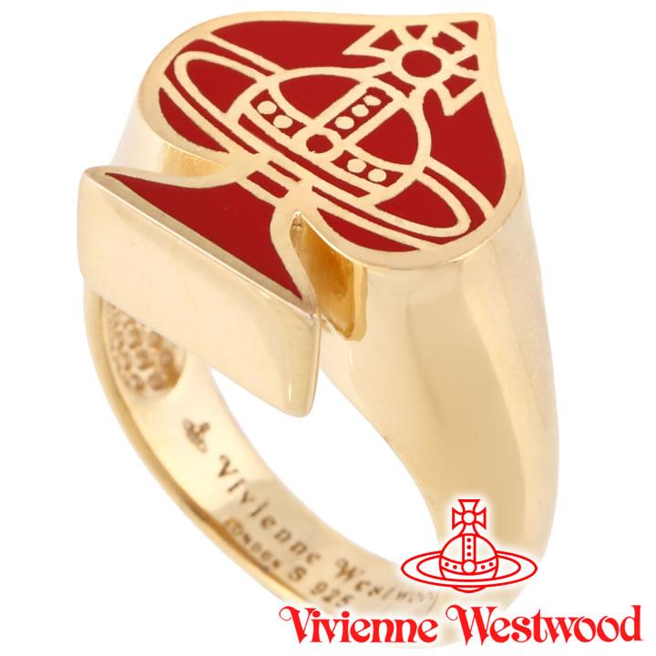 ヴィヴィアンウエストウッド リング 指輪 メンズ レディース Vivienne Westwood ヴィヴィアン ベガスリング レッド×ゴールド SR623794/2 【あす楽】【送料無料】