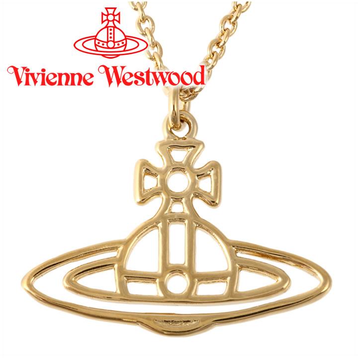 ヴィヴィアンウエストウッド ネックレス Vivienne Westwood ヴィヴィアン シンラインショートフラットオーブペンダント ゴールド 63020029-R001(BP1284/3) 【あす楽】【送料無料】