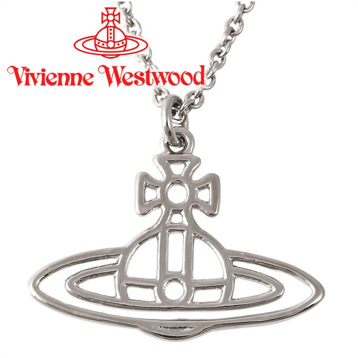 ヴィヴィアンウエストウッド ネックレス Vivienne Westwood ヴィヴィアン シンラインショートフラットオーブペンダント シルバー BP1284/2 【お取り寄せ】【送料無料】