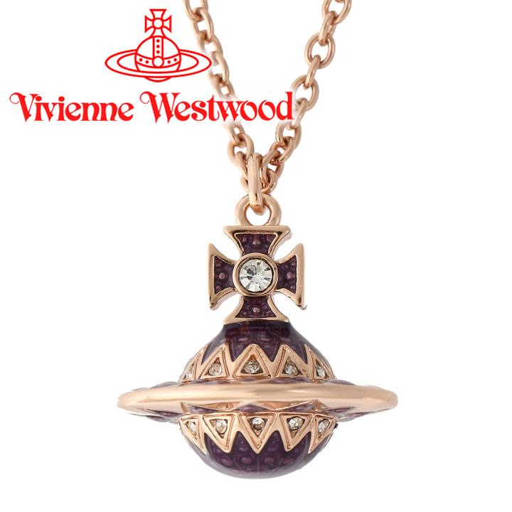 ヴィヴィアンウエストウッド ネックレス レディース Vivienne Westwood ヴィヴィアン アレサスモールオーブペンダント ピンクゴールド 63020191-G155 【あす楽】【送料無料】