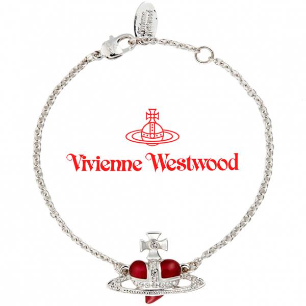 ヴィヴィアンウエストウッド ブレスレット Vivienne Westwood レディース ディアマンテエナメルハートブレスレット レッド 【お取り寄せ】【送料無料】