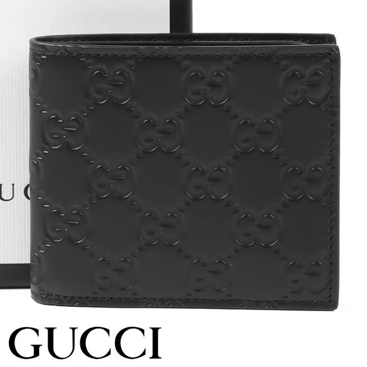 グッチ 財布 GUCCI 二つ折り財布 小銭入れなし アヴェル メンズ ブラック 365466-CWC1R-1000 【あす楽】【送料無料】
