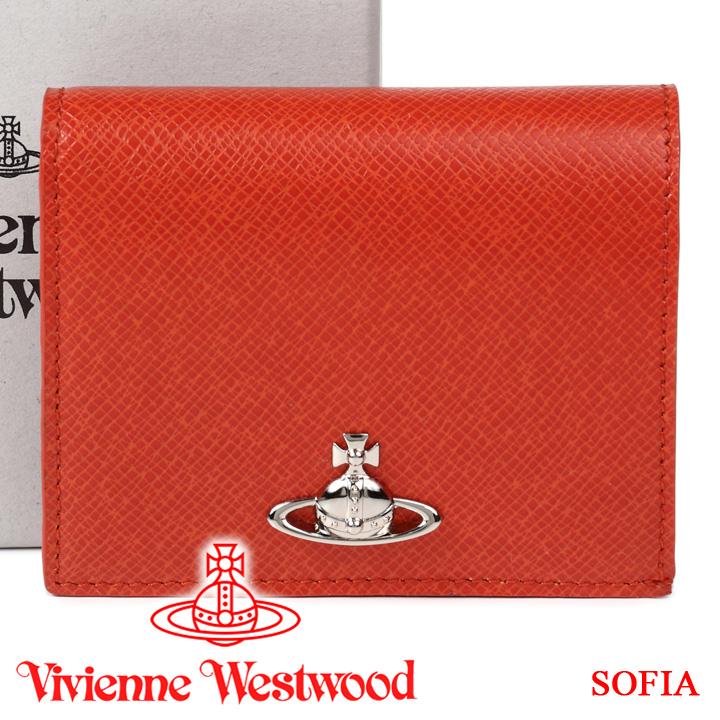 ヴィヴィアンウエストウッド 二つ折り財布 ヴィヴィアン Vivienne Westwood レディース メンズ ミニ財布 オレンジ 51010024 SOFIA ORANGE 【あす楽】【送料無料】