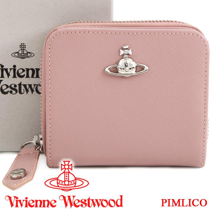 ヴィヴィアンウエストウッド 財布 ヴィヴィアン Vivienne Westwood レディース 二つ折り財布 ピンク 51080020 PIMLICO PINK 19SS 【あす楽】【送料無料】
