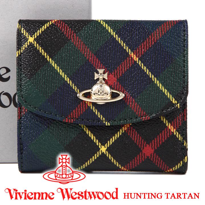 ヴィヴィアンウエストウッド 財布 ヴィヴィアン Vivienne Westwood レディース メンズ チェック 二つ折り財布 51150003 HUNTING TARTAN 【あす楽】【送料無料】