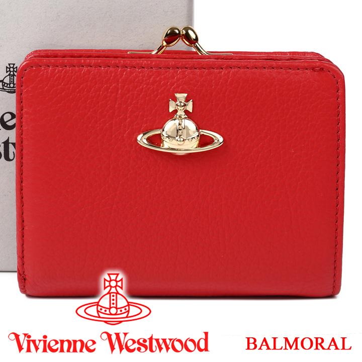 ヴィヴィアンウエストウッド 財布 ヴィヴィアン Vivienne Westwood レディース メンズ がま口二つ折り財布 レッド 51010020 BALMORAL RED 【あす楽】【送料無料】