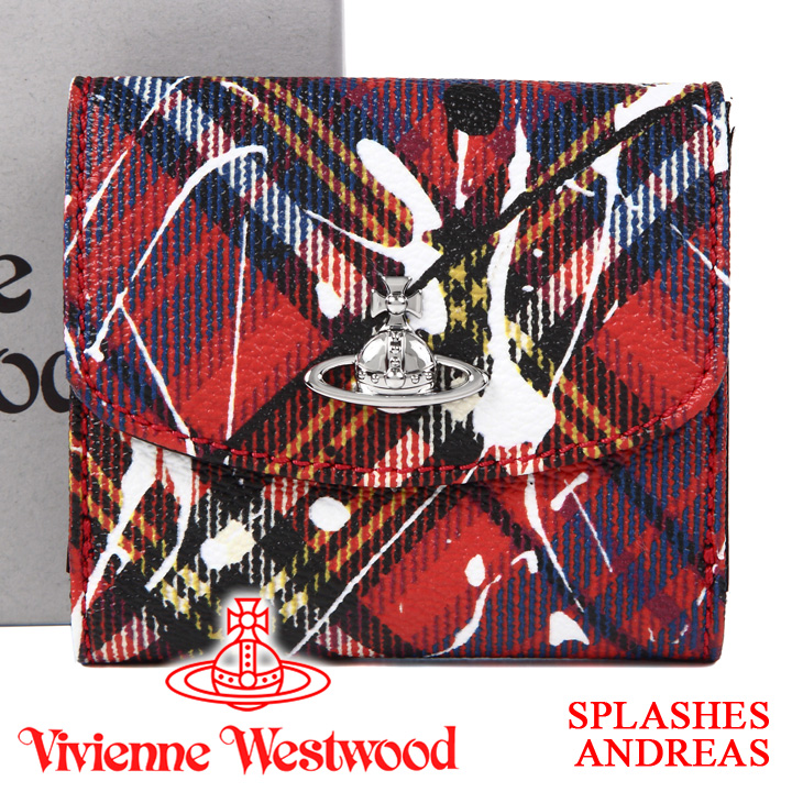 【クーポン配布中】 ヴィヴィアンウエストウッド 財布 ヴィヴィアン Vivienne Westwood レディース メンズ チェック 二つ折り財布 51150003 SPLASHES ANDREAS 【あす楽】【送料無料】