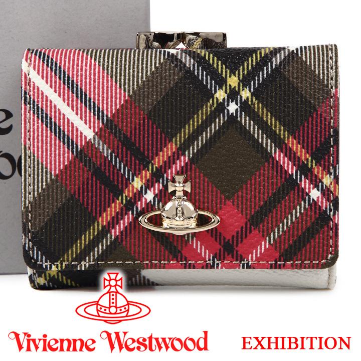 ヴィヴィアンウエストウッド 財布 ヴィヴィアン Vivienne Westwood レディース メンズ チェック 三つ折り財布 51010018 EXHIBITION 【あす楽】【送料無料】