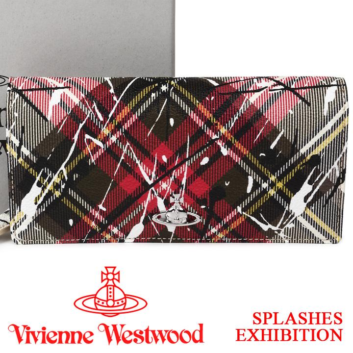 ヴィヴィアンウエストウッド 財布 ヴィヴィアン Vivienne Westwood 長財布 レディース メンズ チェック 51060025 SPLASHES EXHIBITION 【あす楽】【送料無料】