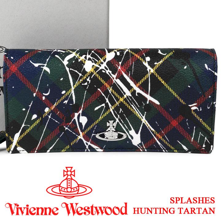 ヴィヴィアンウエストウッド 財布 ヴィヴィアン Vivienne Westwood 長財布 レディース メンズ チェック 51060025 SPLASHES HUNTING TARTAN 【あす楽】【送料無料】