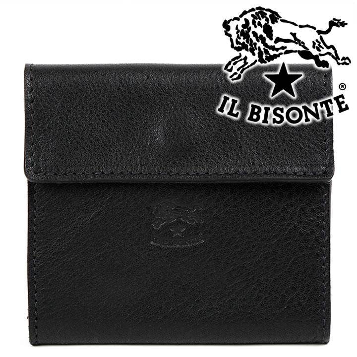 イルビゾンテ 財布 IL BISONTE 二つ折り財布 メンズ レディース ブラック C0455 153(135) 【お取り寄せ】【送料無料】