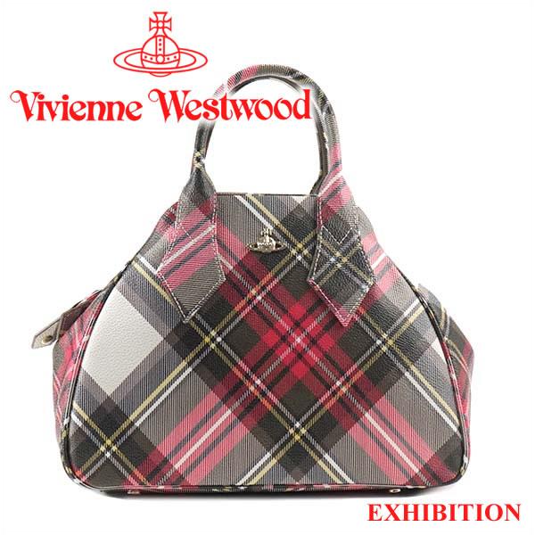 ヴィヴィアンウエストウッド ハンドバッグ Vivienne Westwood バッグ チェック柄 42020015 EXHIBITION 【お取り寄せ】【送料無料】