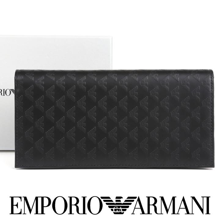 エンポリオアルマーニ 長財布 EMPORIO ARMANI 財布 メンズ ブラック YEM474 YC043 80001 【あす楽】【送料無料】