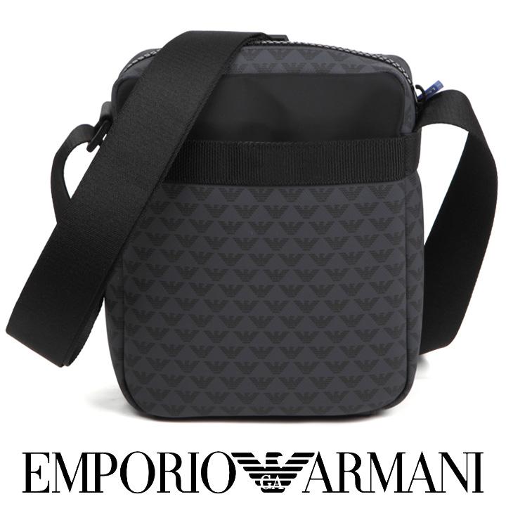 エンポリオアルマーニ ショルダーバッグ EMPORIO ARMANI バッグ 斜め掛け メンズ グレー Y4M165 YKS4V 81386 【あす楽】【送料無料】