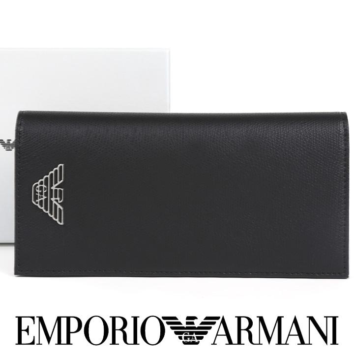 エンポリオアルマーニ 長財布 EMPORIO ARMANI 財布 メンズ ブラック Y4R170 YLA0E 81072 【あす楽】【送料無料】
