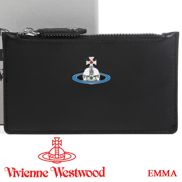 【クーポン配布中】 ヴィヴィアンウエストウッド カードケース ミニ財布 Vivienne Westwood ヴィヴィアン 小銭入れ メンズ レディース ブラック 51110039 EMMA BLACK 【あす楽】【送料無料】