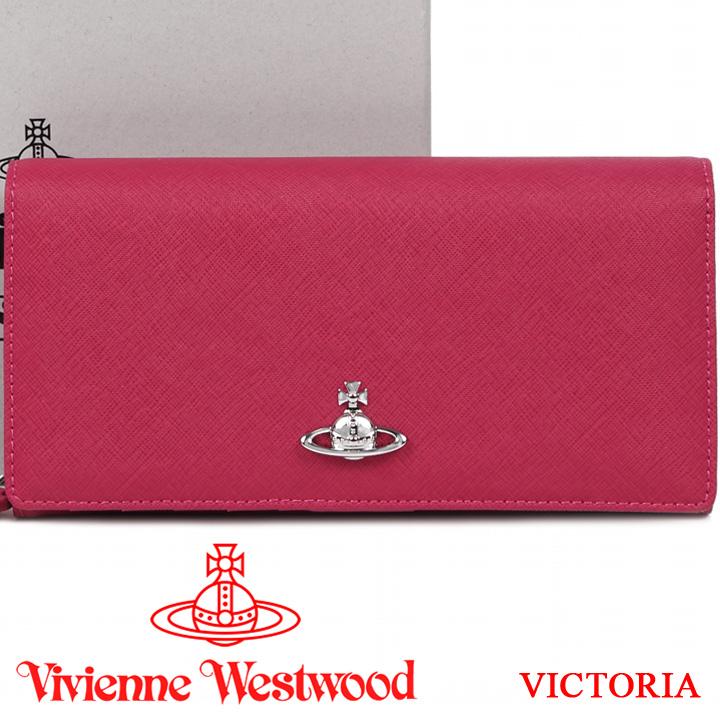 ヴィヴィアンウエストウッド 財布 ヴィヴィアン Vivienne Westwood 長財布 レディース ピンク 51060025 VICTORIA PINK 【あす楽】【送料無料】