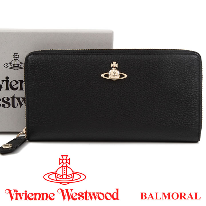 ヴィヴィアンウエストウッド 財布 ヴィヴィアン Vivienne Westwood 長財布 レディース メンズ ブラック 51050022 BALMORAL BLACK 【あす楽】【送料無料】