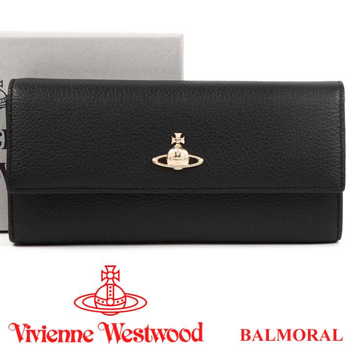 ヴィヴィアンウエストウッド 財布 ヴィヴィアン Vivienne Westwood 長財布 レディース メンズ 51060022 BALMORAL BLACK 【あす楽】【送料無料】