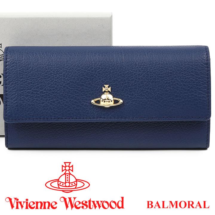 ヴィヴィアンウエストウッド 財布 ヴィヴィアン Vivienne Westwood 長財布 レディース メンズ ネイビー 51060022 BALMORAL NAVY 【あす楽】【送料無料】