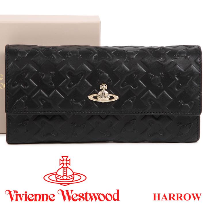 ヴィヴィアンウエストウッド 財布 ヴィヴィアン Vivienne Westwood 長財布 レディース メンズ ブラック 321515 HARROW BLACK 【送料無料】
