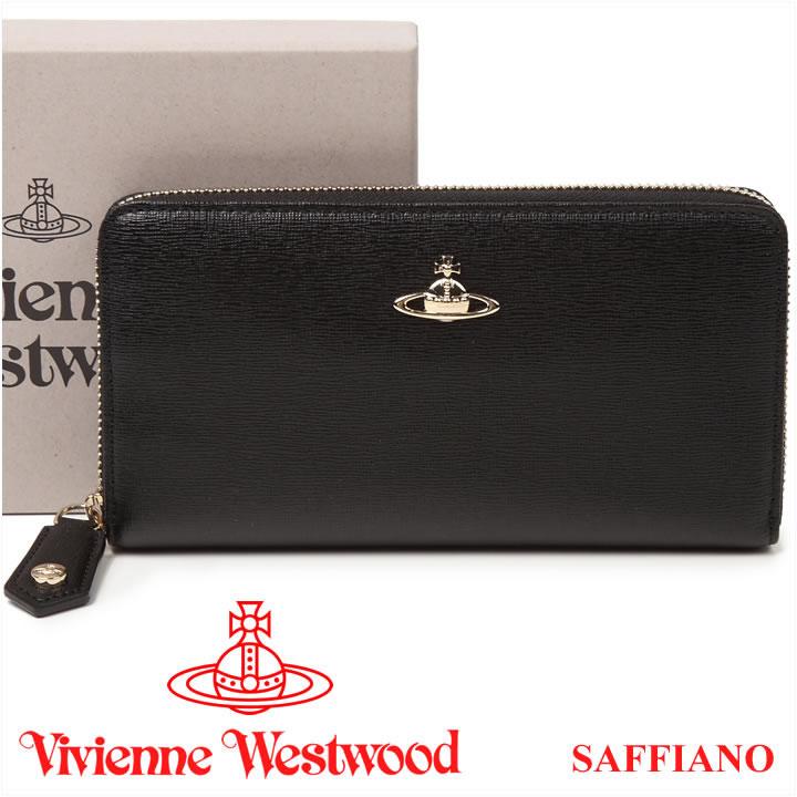 ヴィヴィアンウエストウッド 長財布 ヴィヴィアン Vivienne Westwood ラウンドファスナー財布 ブラック 5140V SAFFIANO BLACK 【あす楽】【送料無料】