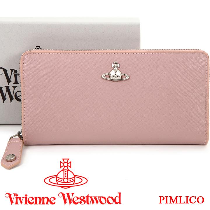 ヴィヴィアンウエストウッド 財布 ヴィヴィアン Vivienne Westwood ラウンドファスナー長財布 レディース ピンク 51050022 PIMLICO PINK 19SS 【あす楽】【送料無料】