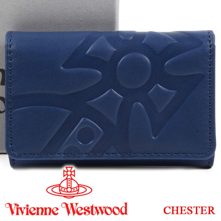 ヴィヴィアンウエストウッド キーケース Vivienne Westwood ヴィヴィアン 6連キーケース メンズ レディース ブルー 51020003 CHESTER BLUE 【あす楽】【送料無料】
