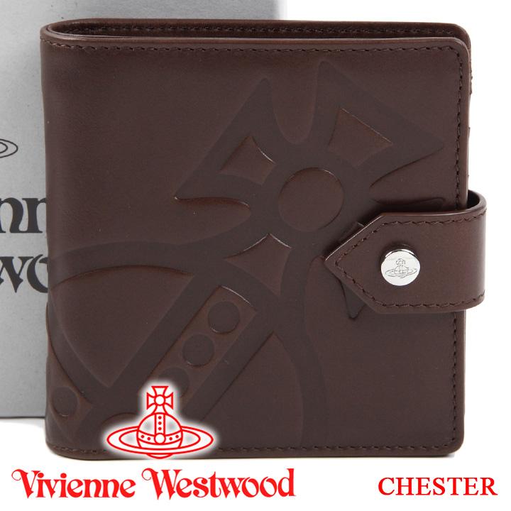 ヴィヴィアンウエストウッド 財布 ヴィヴィアン Vivienne Westwood 二つ折り財布 メンズ レディース ブラウン 51090001 CHESTER BROWN 【あす楽】【送料無料】