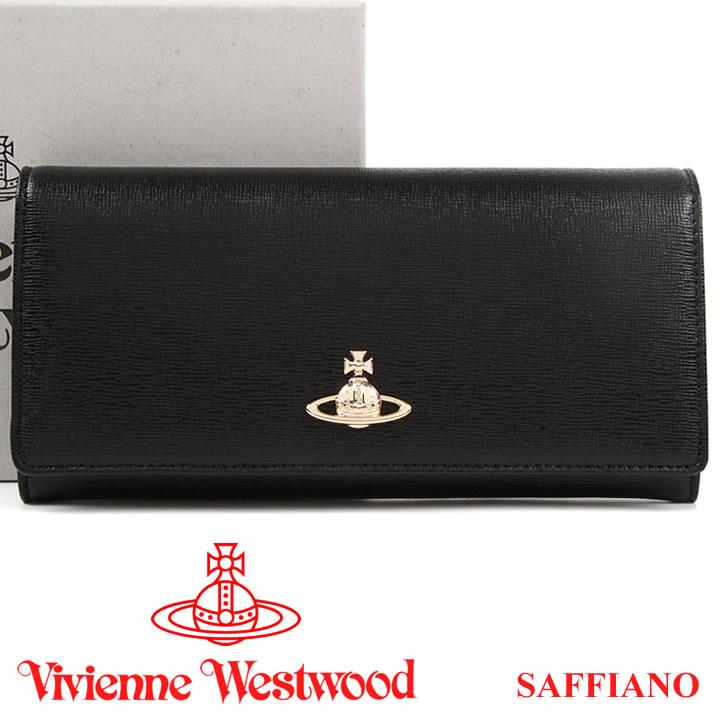 ヴィヴィアンウエストウッド 財布 ヴィヴィアン Vivienne Westwood 長財布 メンズ レディース ブラック 51040027 SAFFIANO BLACK 18SS 【あす楽】【送料無料】