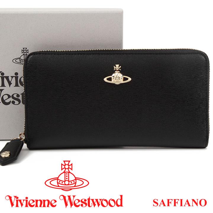 ヴィヴィアンウエストウッド 財布 ヴィヴィアン Vivienne Westwood ラウンドファスナー長財布 レディース メンズ ブラック 51050023 SAFFIANO BLACK 18SS 【あす楽】【送料無料】