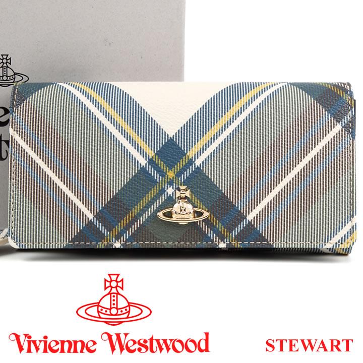 ヴィヴィアンウエストウッド 財布 ヴィヴィアン Vivienne Westwood 長財布 レディース メンズ チェック 51060025 STEWART 18SS 【あす楽】【送料無料】