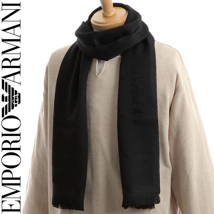 【セール】 エンポリオアルマーニ マフラー EMPORIO ARMANI メンズ 男性用 マフラー ブラック 625009 8P306 00020 【あす楽】【送料無料】